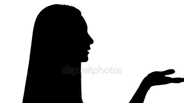 Žena posílá polibek