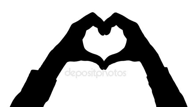 Bewegung männliche Hände Herz Geste / Hand Herz