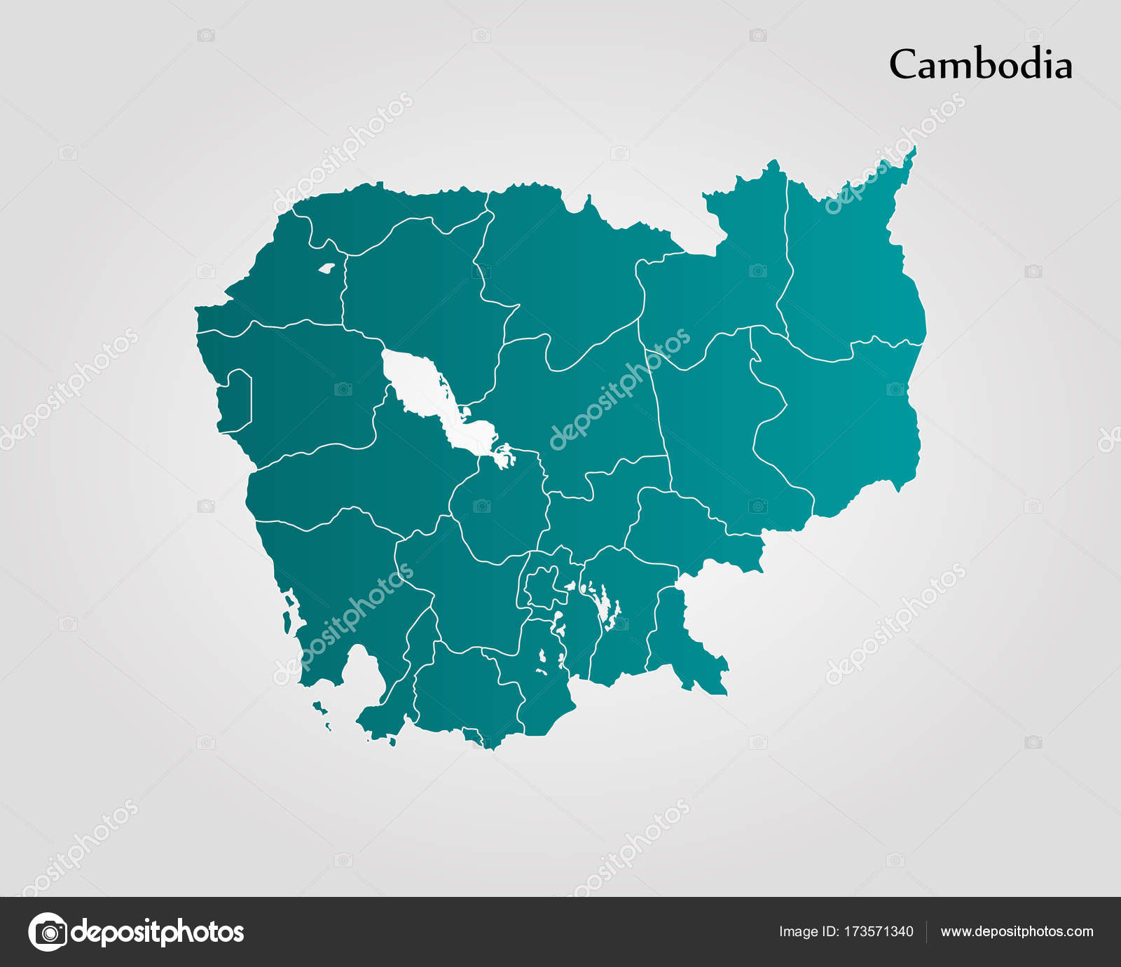 Map of cambodia stock vector uglegorets 173571340 map of cambodia vector illustration world map vector by uglegorets gumiabroncs Image collections