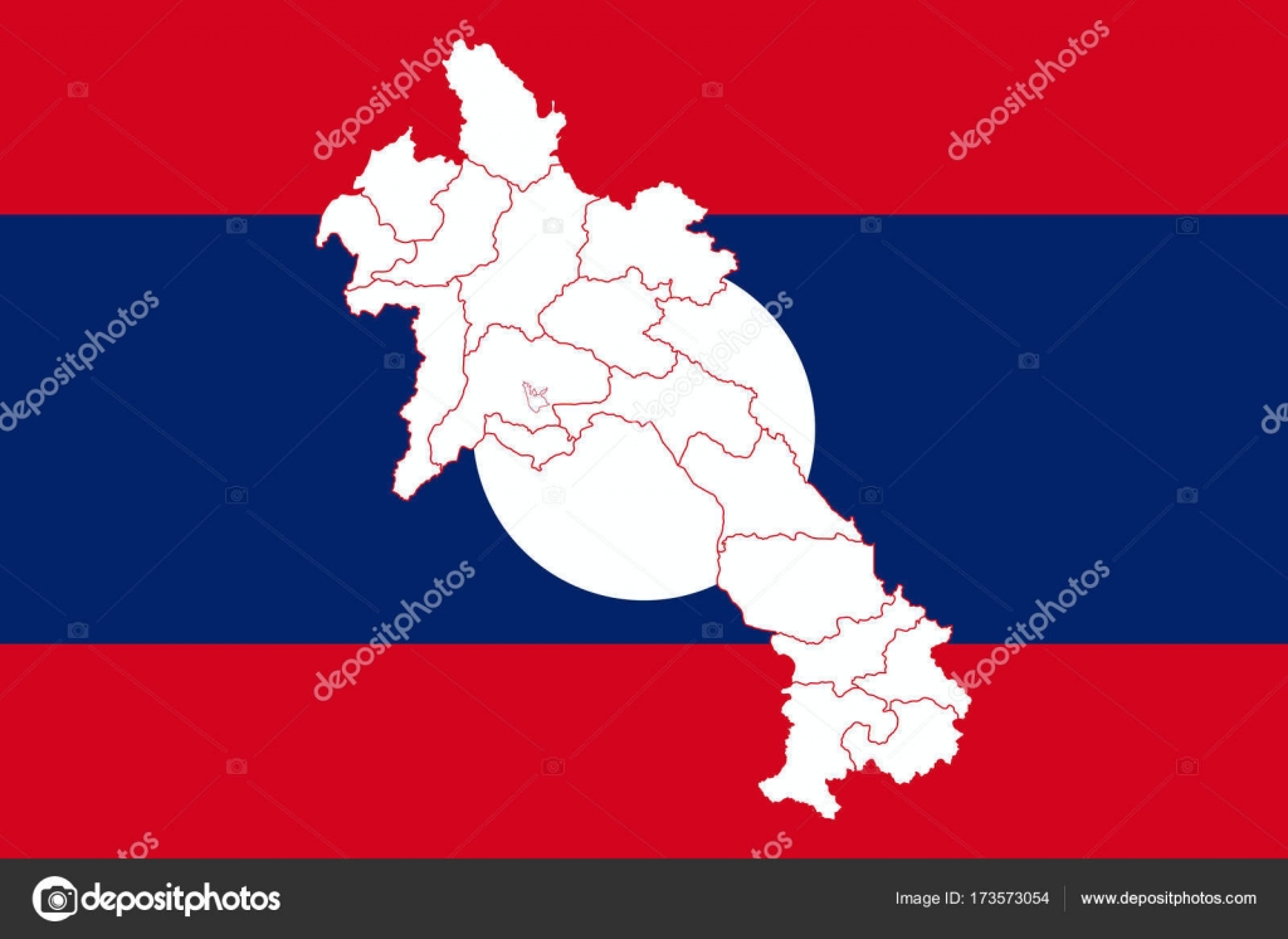 Carte Du Monde Laos.Carte Et Drapeau Du Laos Image Vectorielle Uglegorets C 173573054