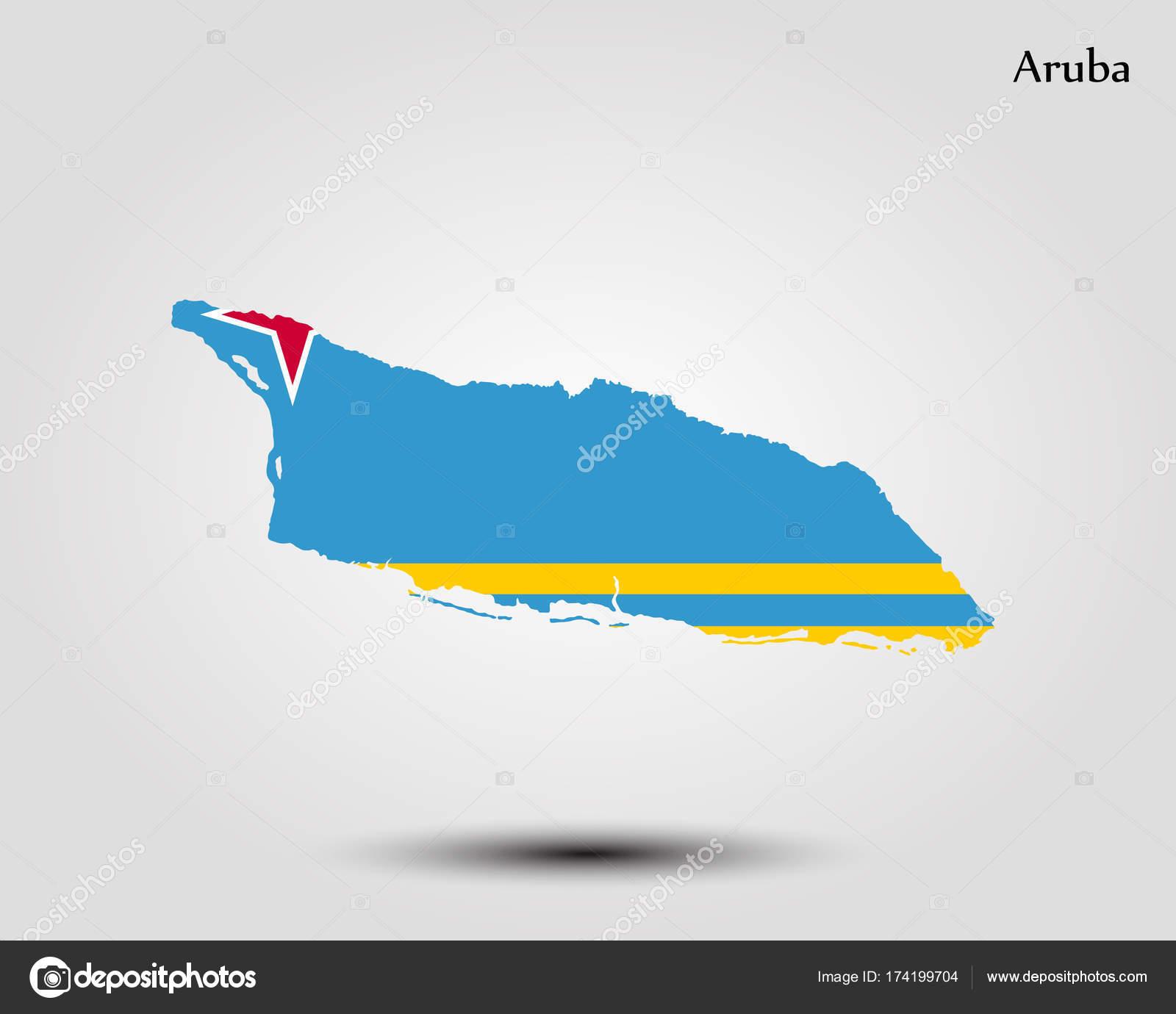 Map of Aruba — Stock Vector © Uglegorets #174199704