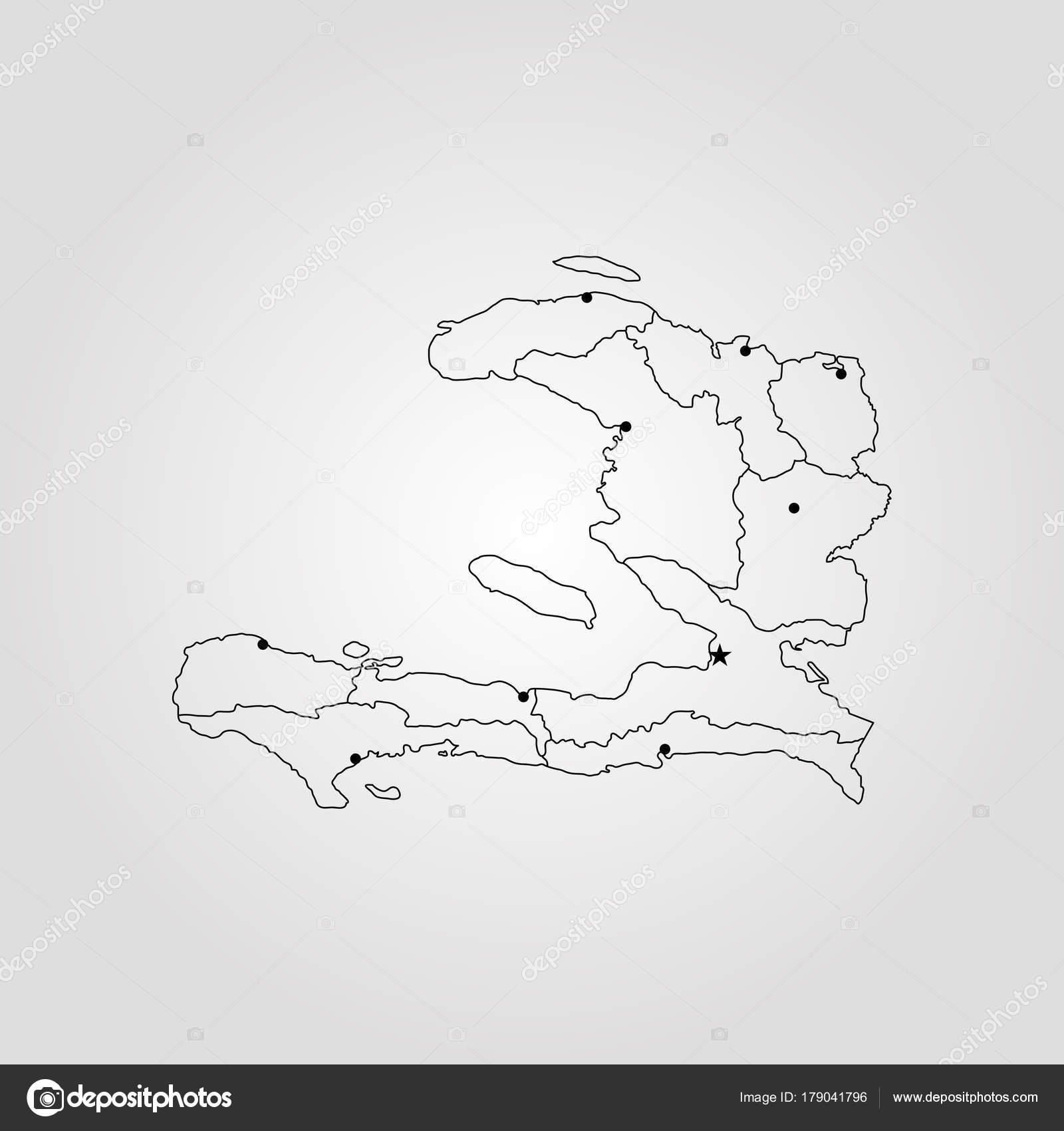 mapa de haití — Vector de stock © Uglegorets #179041796