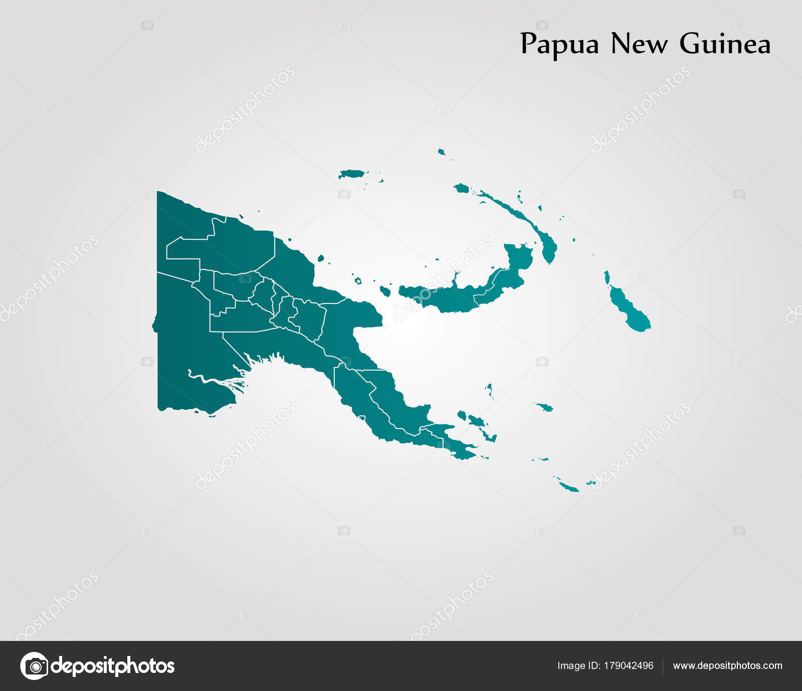 Map of Papua New Guinea — Stock Vector © Uglegorets #179042496