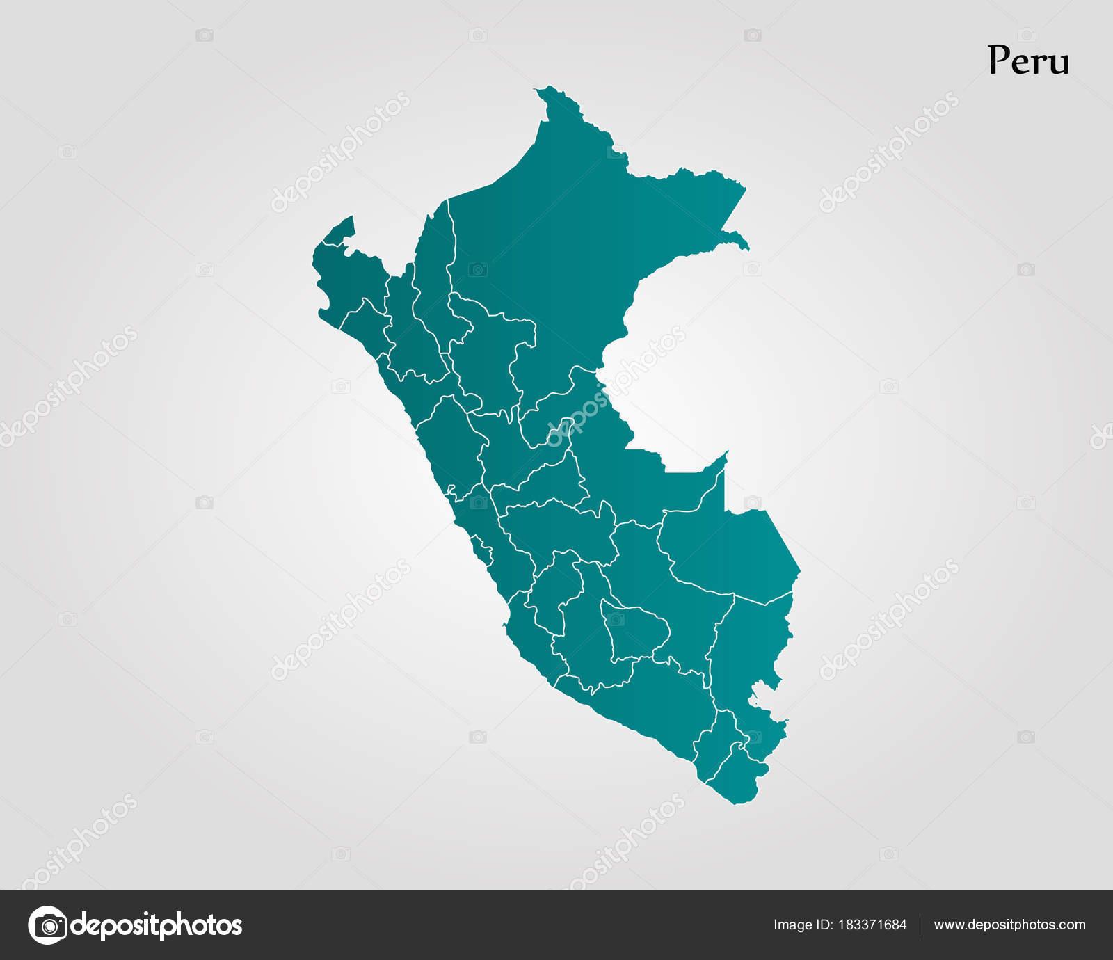 Map of Peru — Stock Vector © Uglegorets #183371684