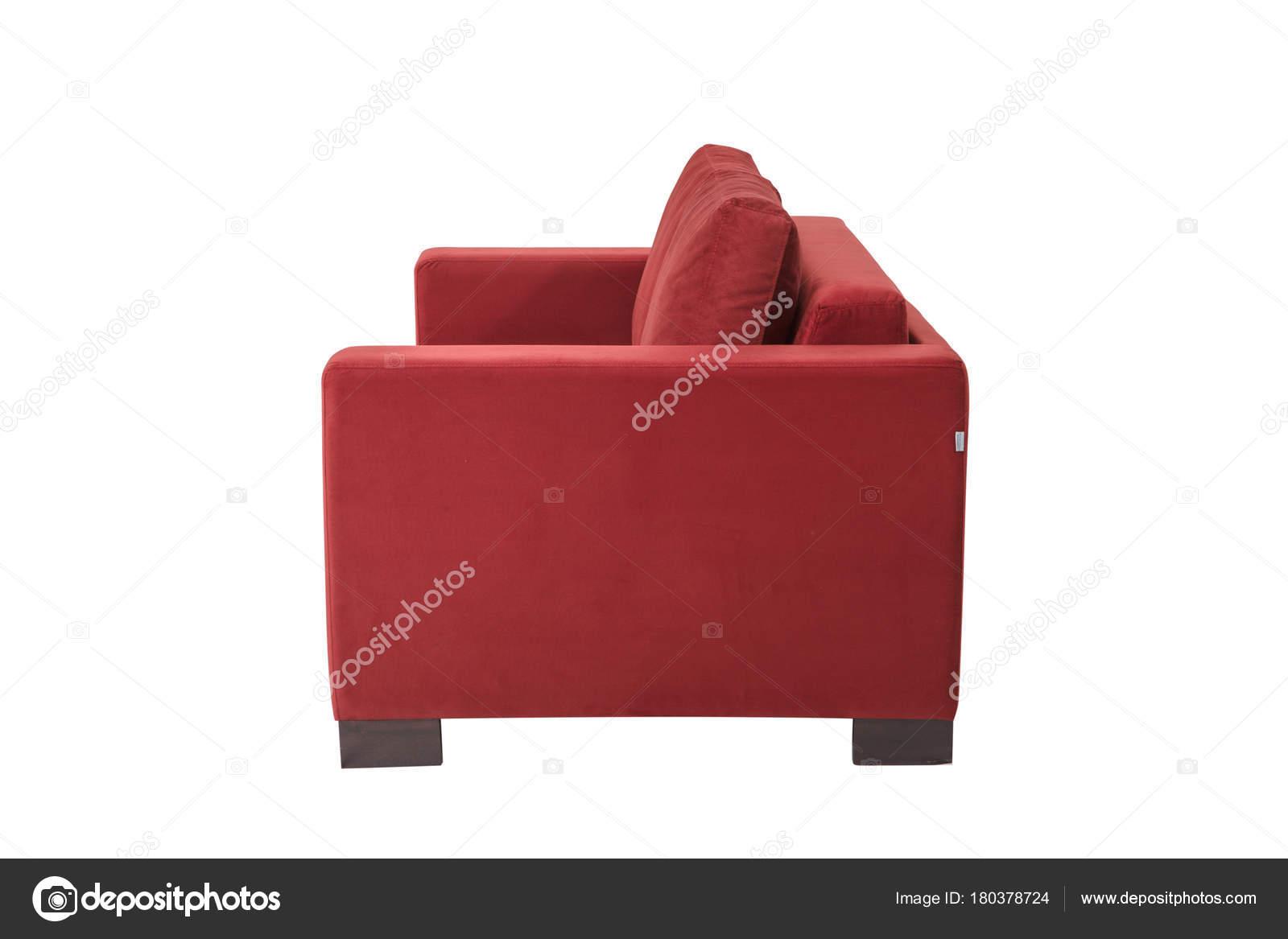 Divano Rosso Pelle : Divano divano moderno in pelle scamosciata rosso isolato u foto