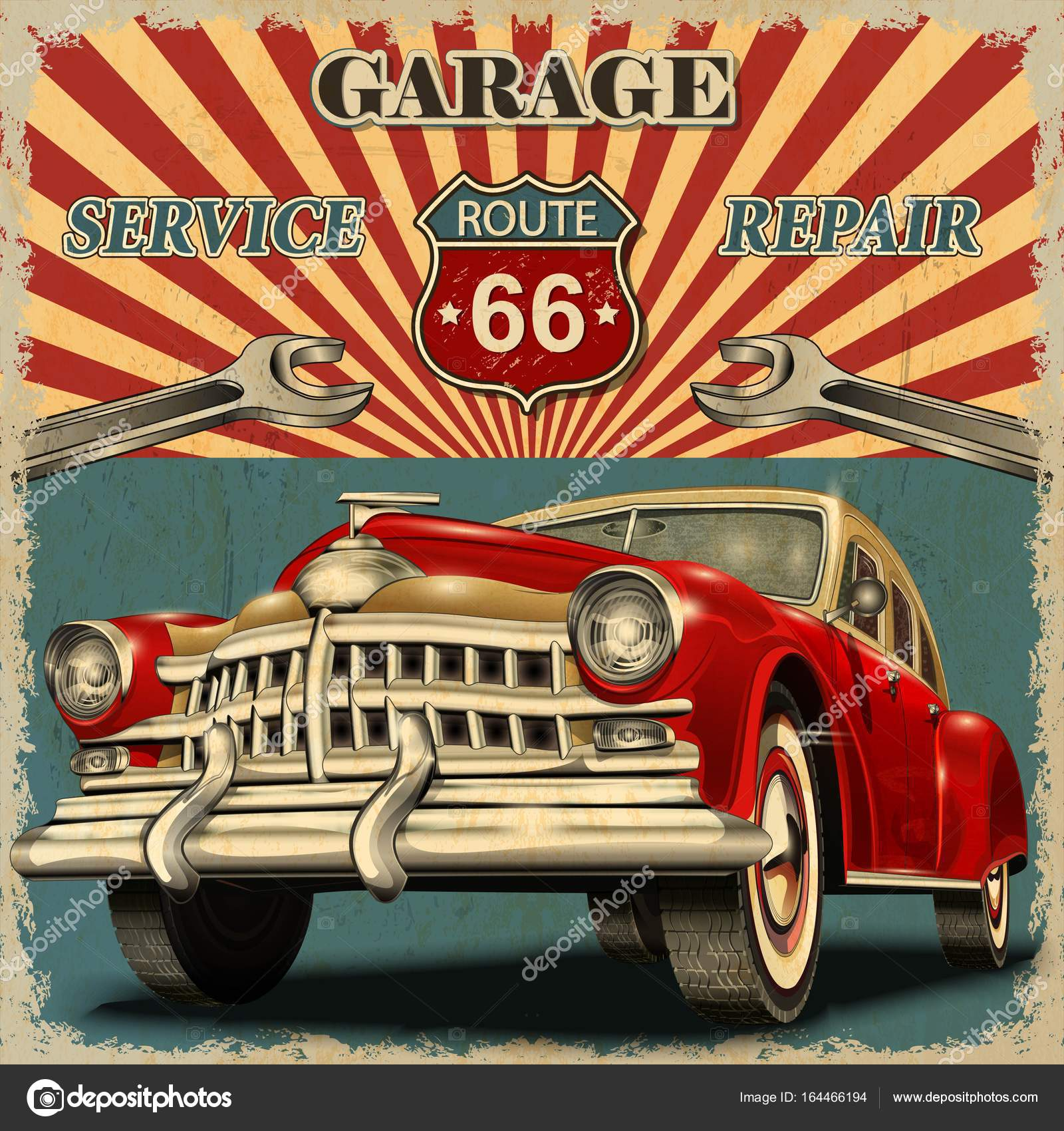 Vintage Garage Ideas: Stock Vector © Matetcher