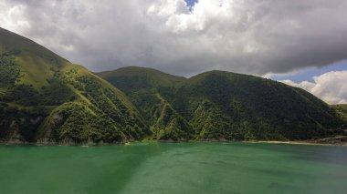Beautiful mountain lake Kezenoy Am or Kezenoyam in Chechen republik in Russia