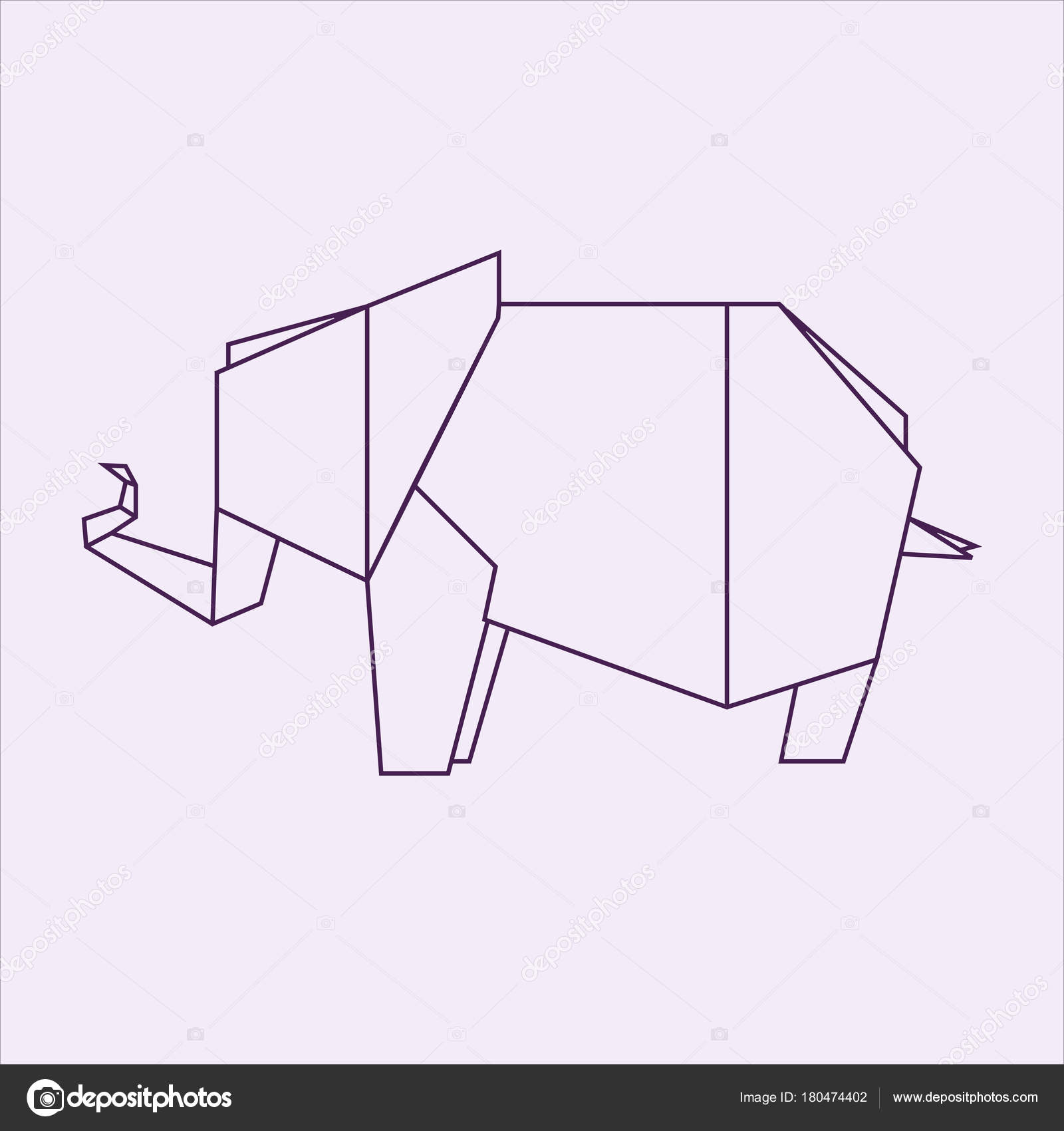 Origami Elephant Paper Art Stock Photo Tetreb88 180474402