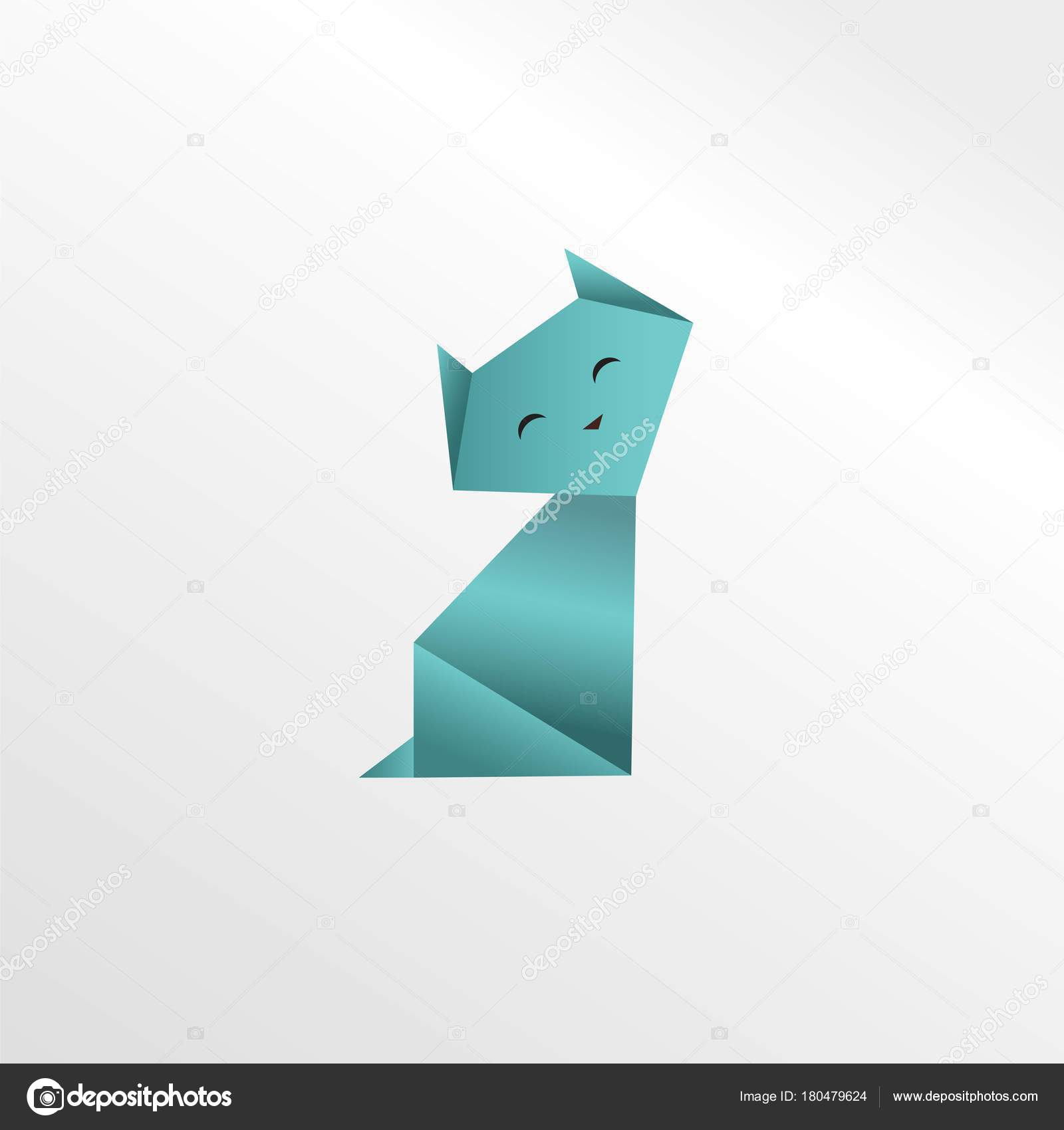 Origami Cat Paper Art Stock Photo Tetreb88 180479624