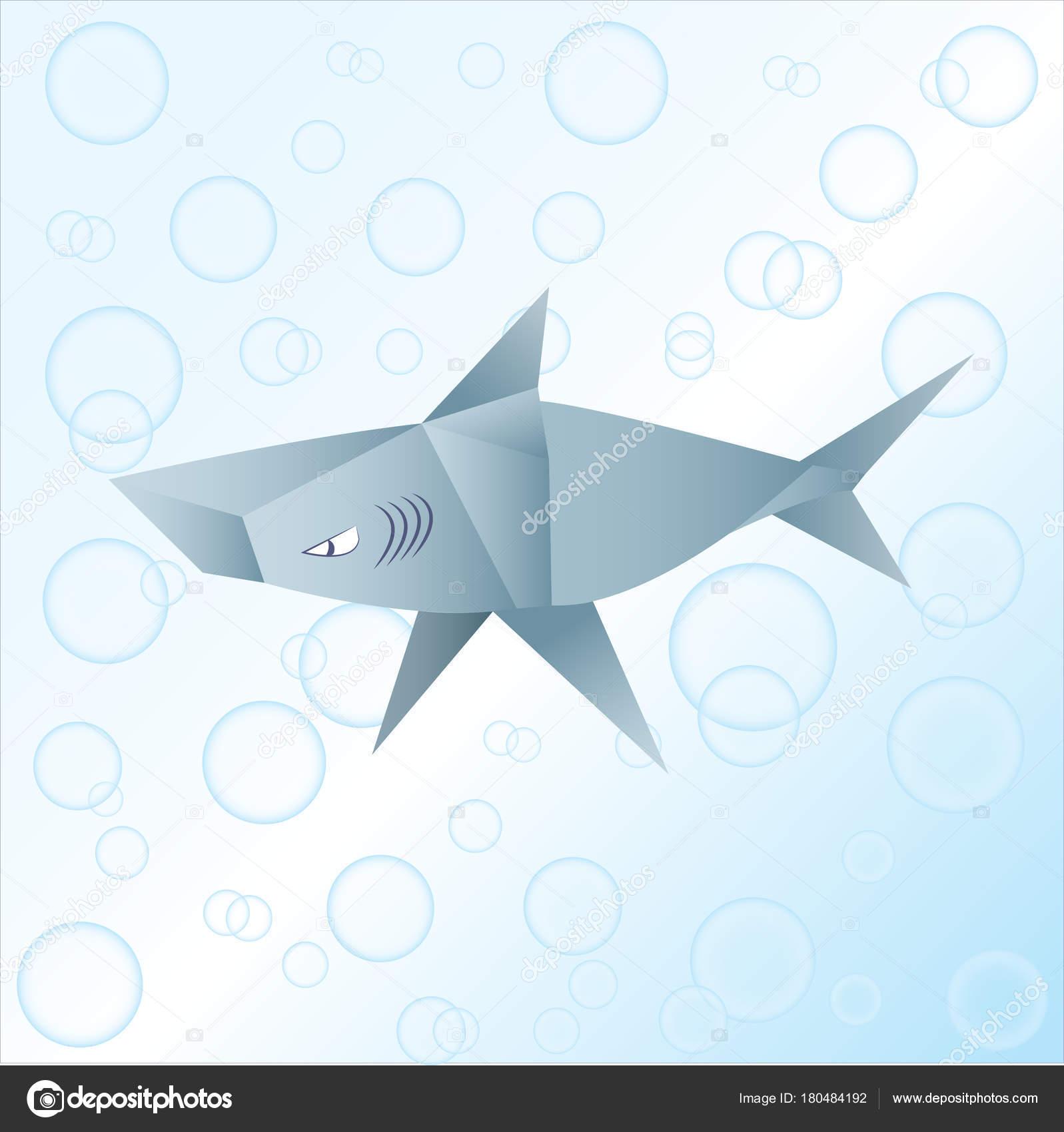 Origami Shark Paper Animal Stock Photo Tetreb88 180484192