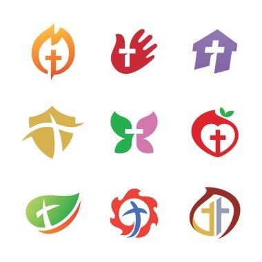 Set of Church Vector Logo