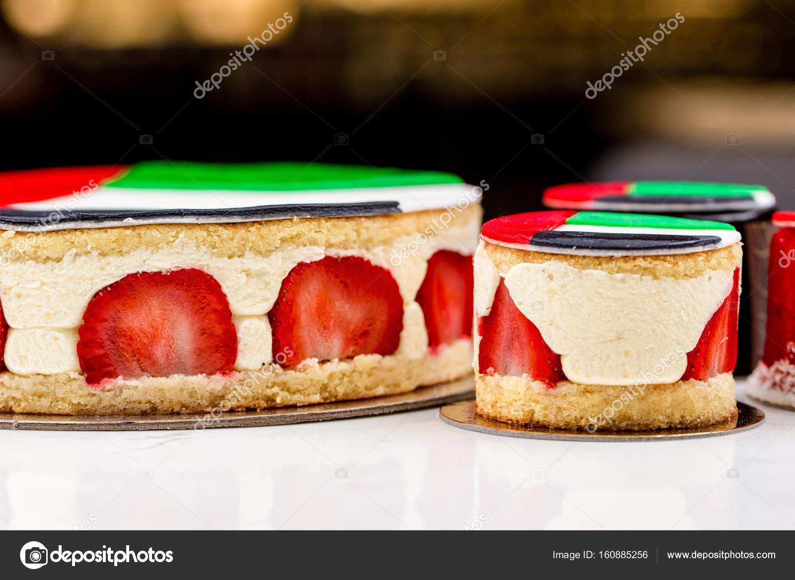 Uae National Urlaub Feier Fahne Drucken Kuchen Und Cupcakes