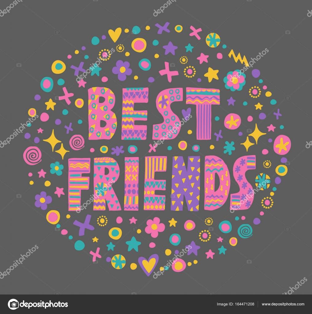 Pictures Best Friend Art Word Art Best Friends Stock