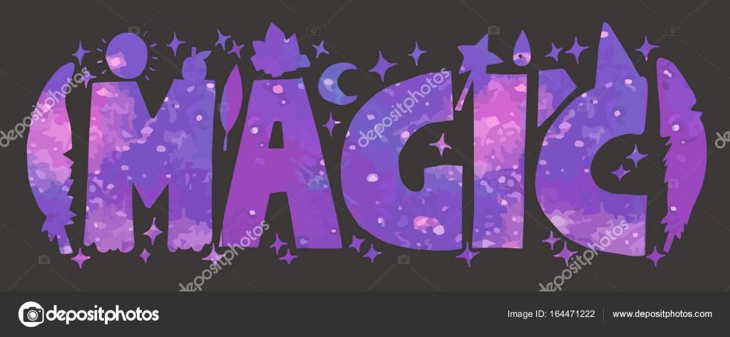 Картинка с надписью магия, бесконечной открытки