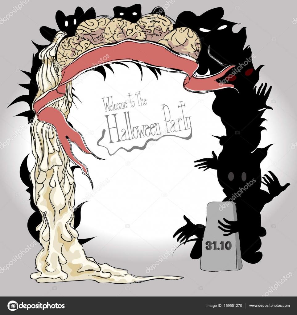 Marco para cartel en Halloween — Vector de stock © juliasha777.gmail ...