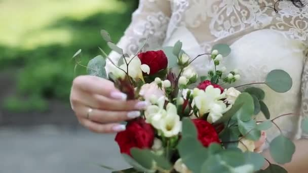 Nice Wedding Bouquet In Brides Hand
