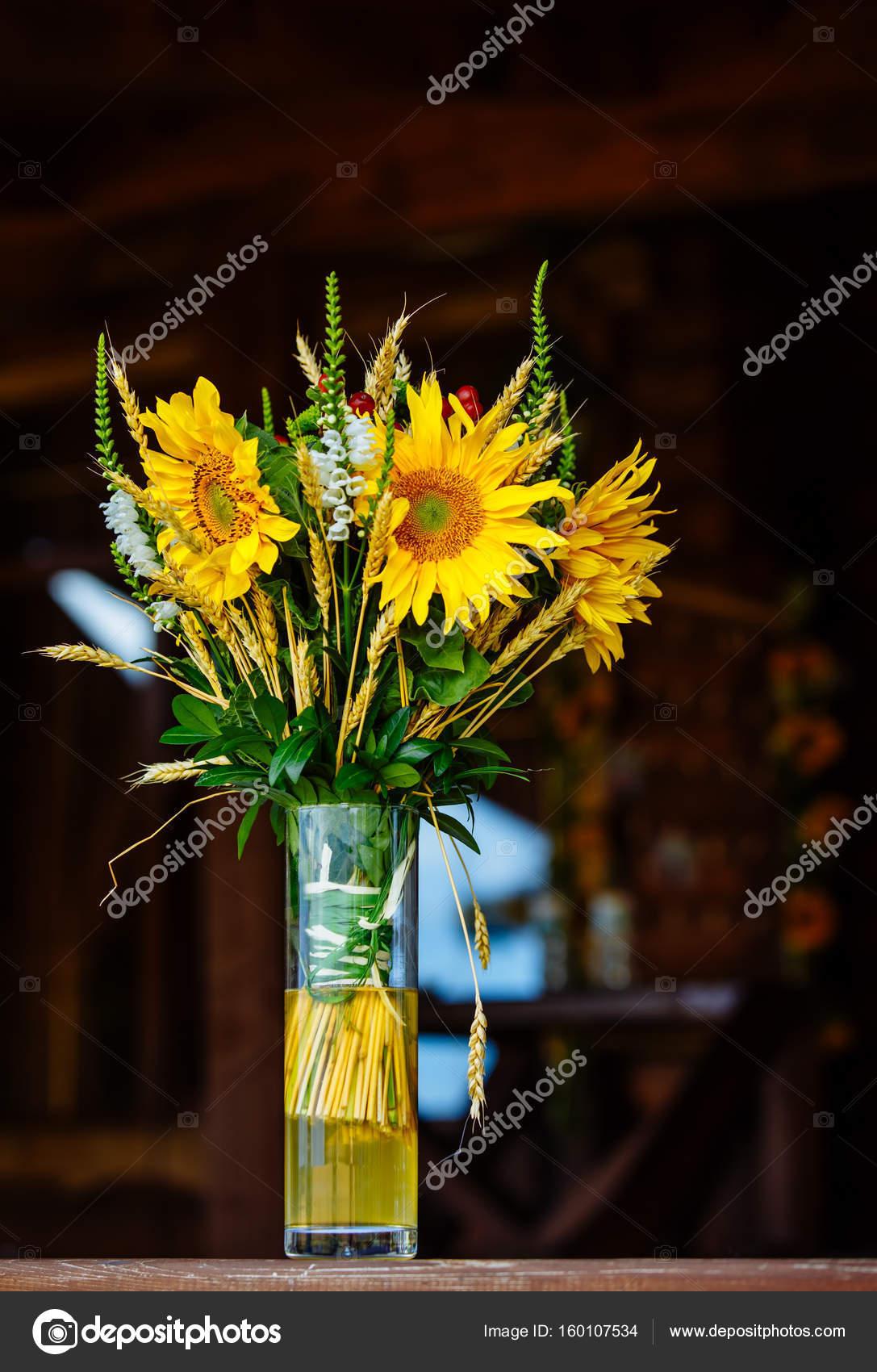 Arreglo Floral Verano Colorido Con Girasol Foto De Stock