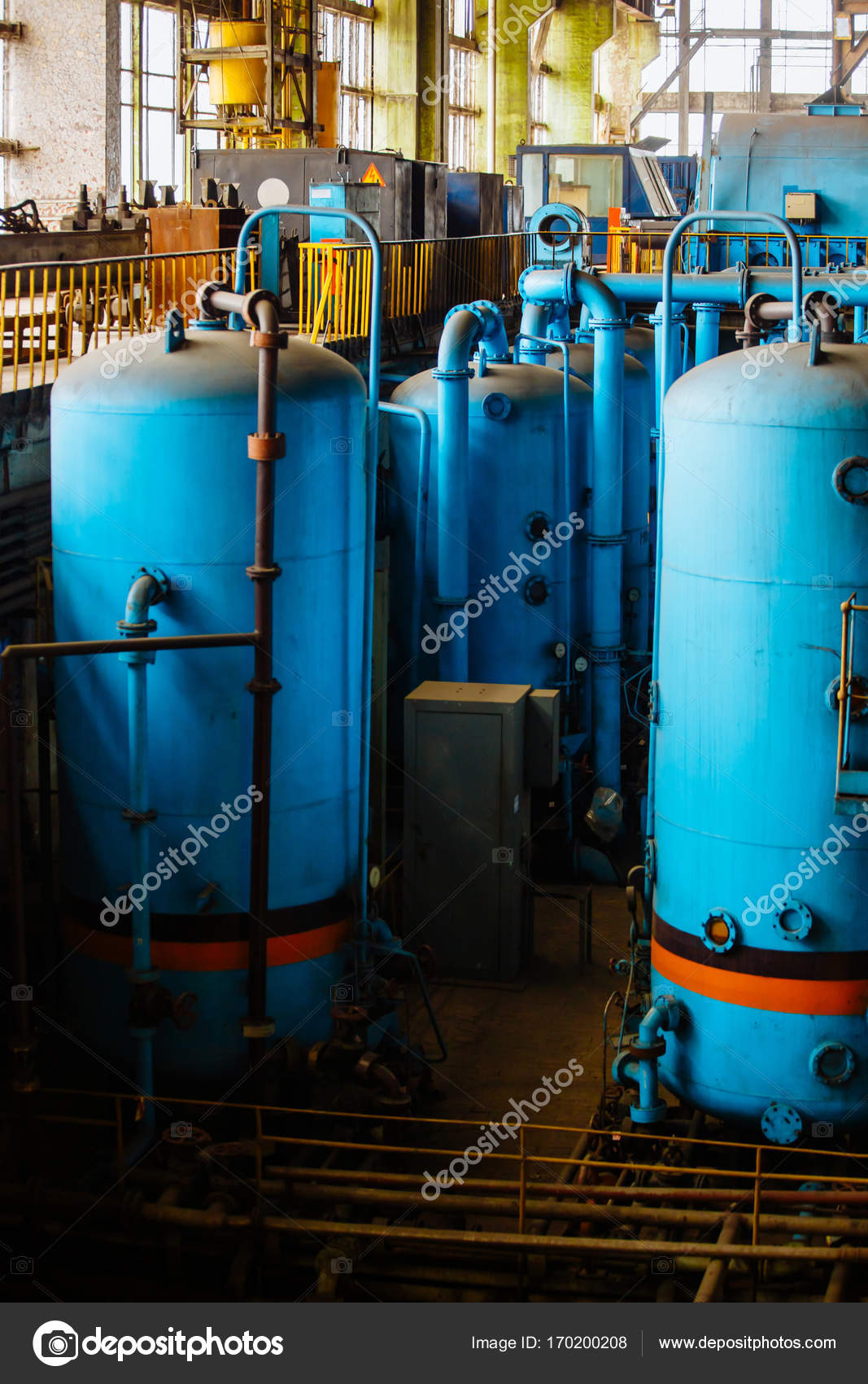 Piping of boiler in power plant — Stock Photo © wedmov #170200208
