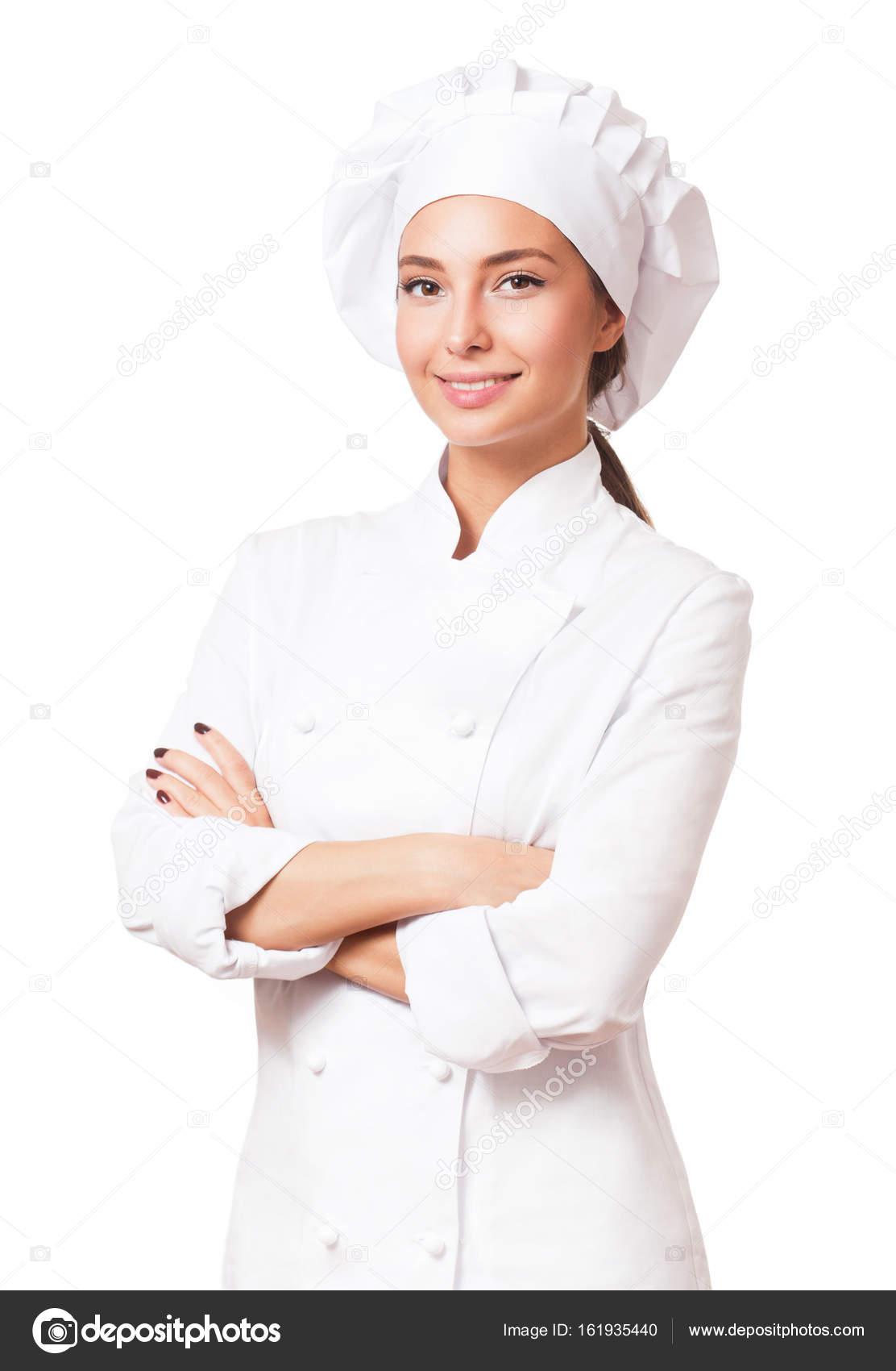 Giovane chef donna. — Foto Stock © envivo #161935440
