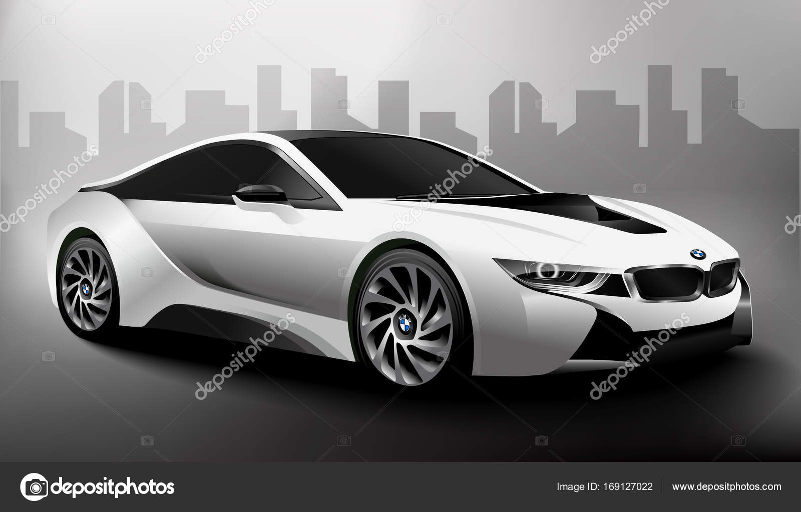 Bmw I8 Black Stock Vector C Nata Whitedesign 169127022