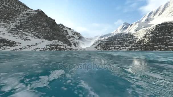 Gleiten auf dem Eissee