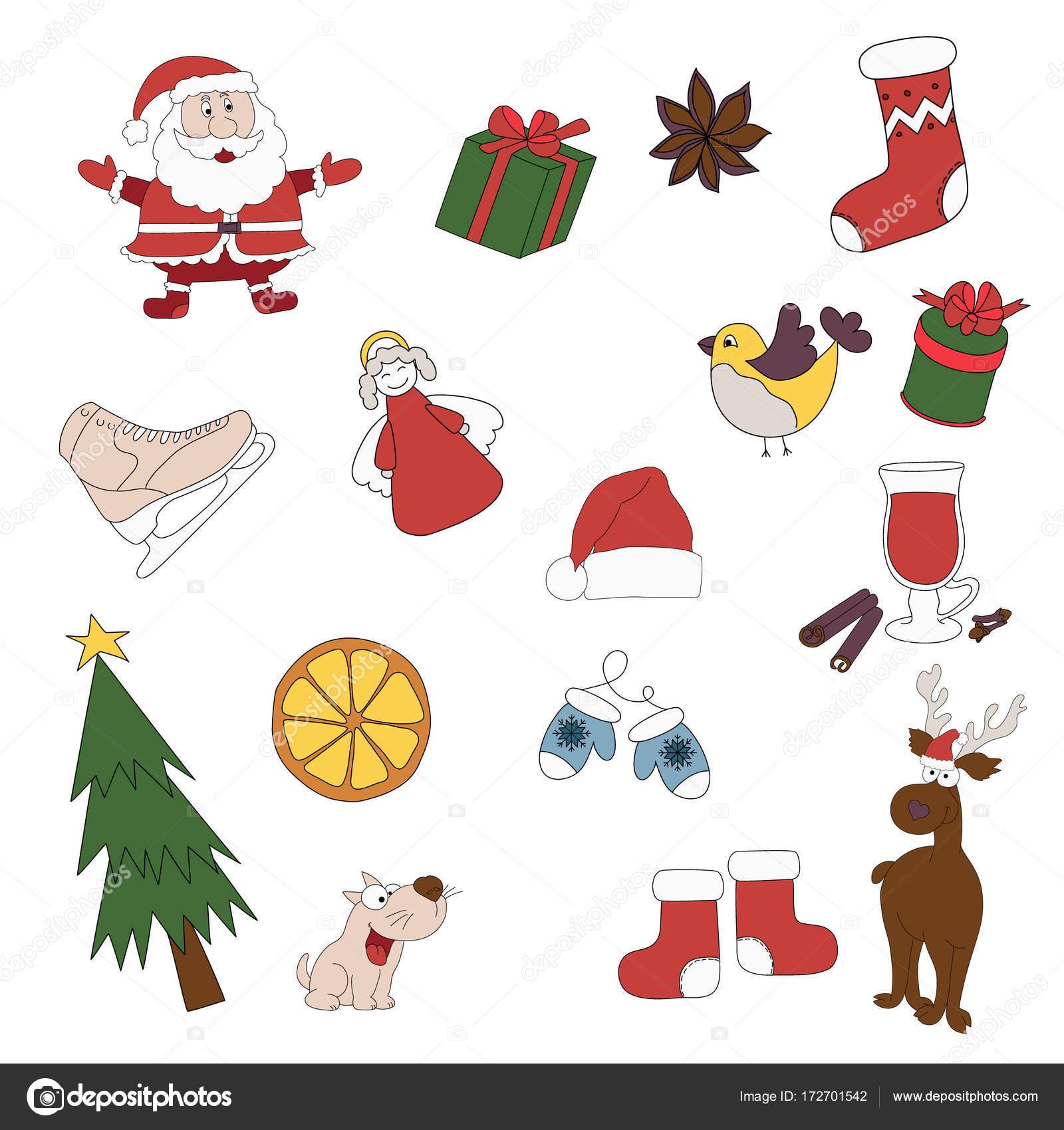 Adesivi Buon Natale.Buon Natale Distintivi Patch Adesivi Un Insieme Di Natale