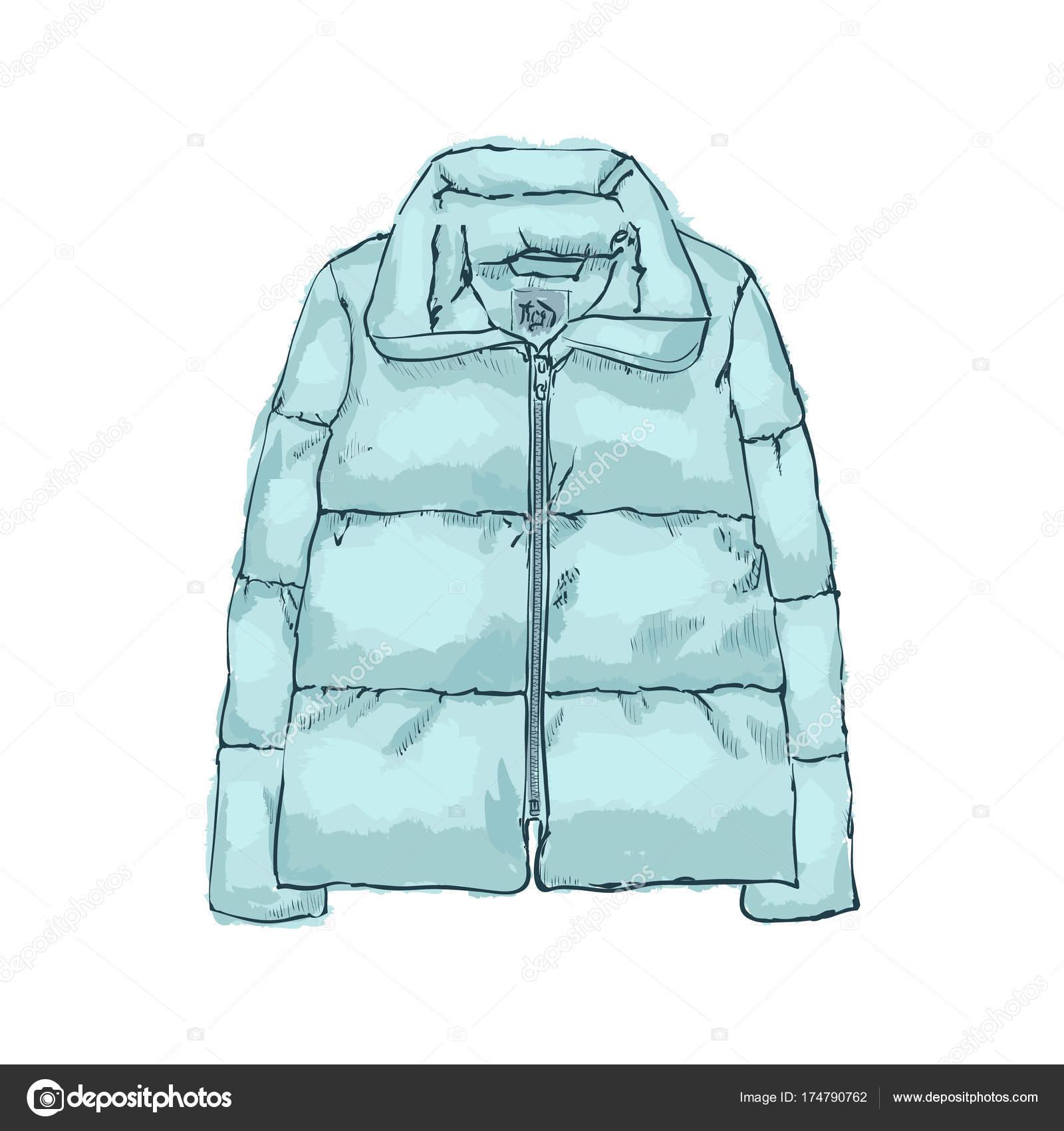 新年のダウン ジャケット暖かいミント冬の服のコレクション ストック