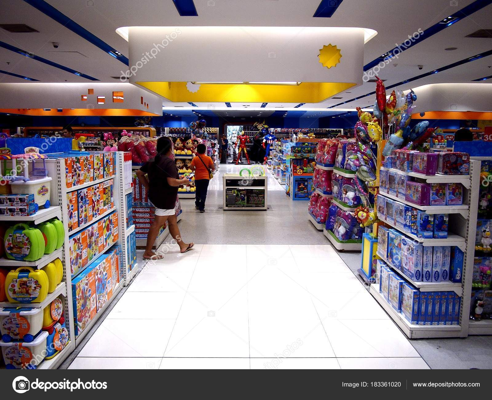 Assorted Toys On Display At A Toy Store In A Shopping Mall Stock