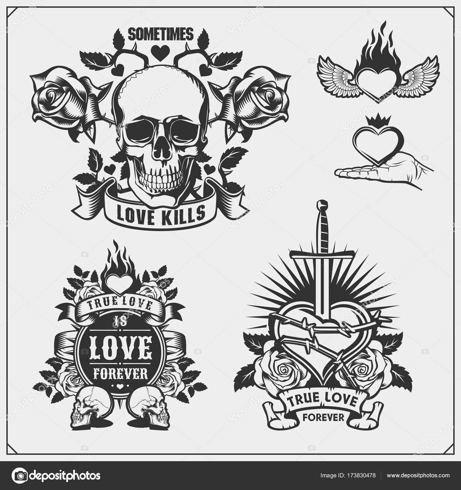 Tattoo Studio Emblems Stock Vectors Royalty Free Tattoo Studio