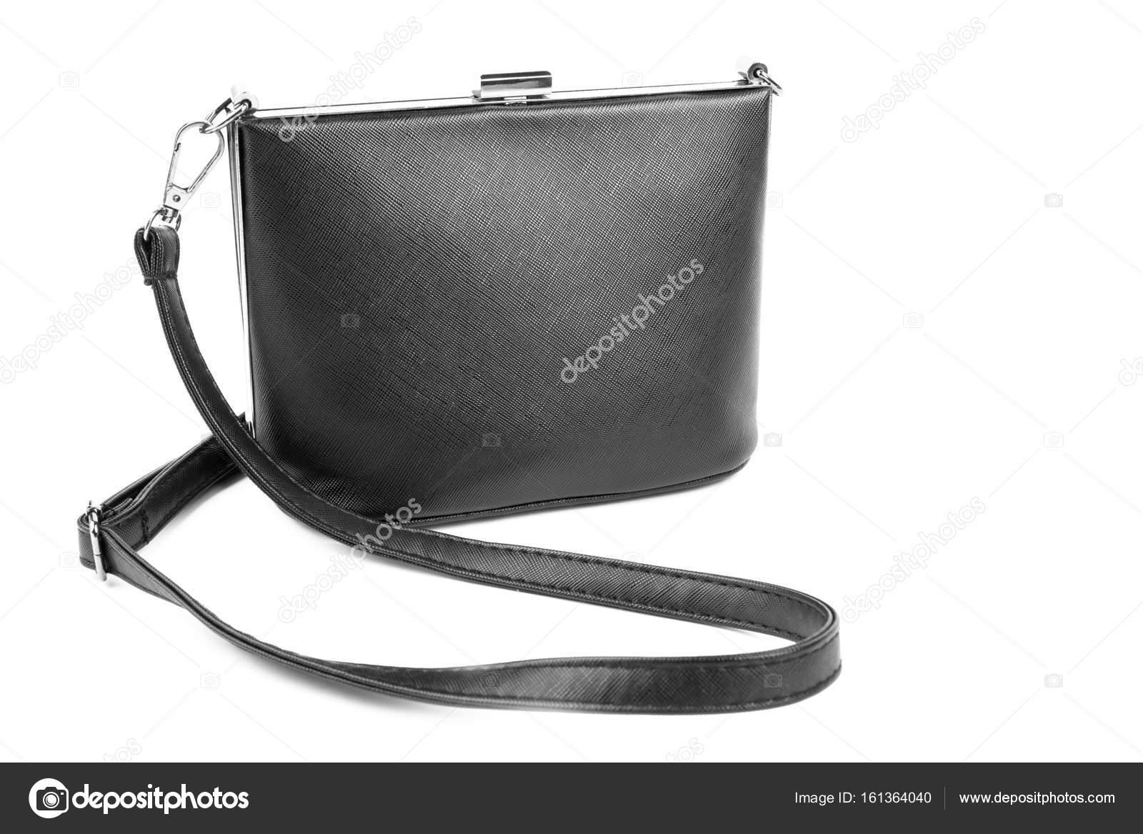 617292c32c Dámský módní luxusní a kožená černá kabelka