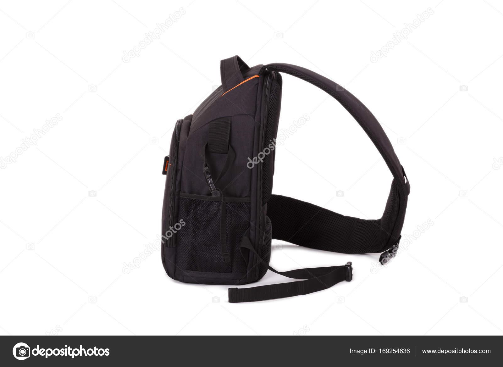 78275557900aa Schwarze Tasche für Kamera isoliert auf weißem Hintergrund — Stockfoto