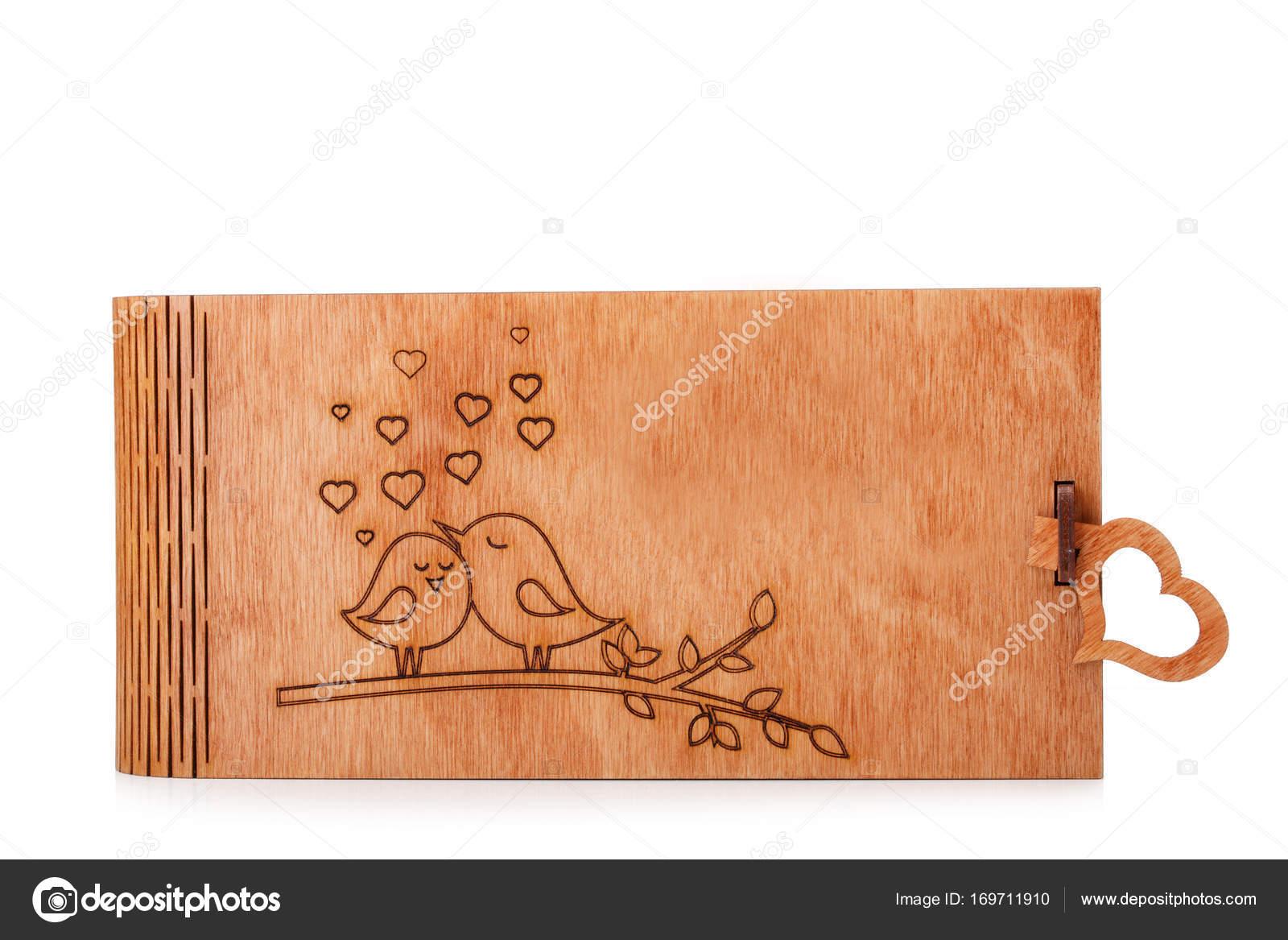 Mooie Houten Box.Een Leuk Mooi Houten Kistje Met Een Mooie Verschroeide Foto