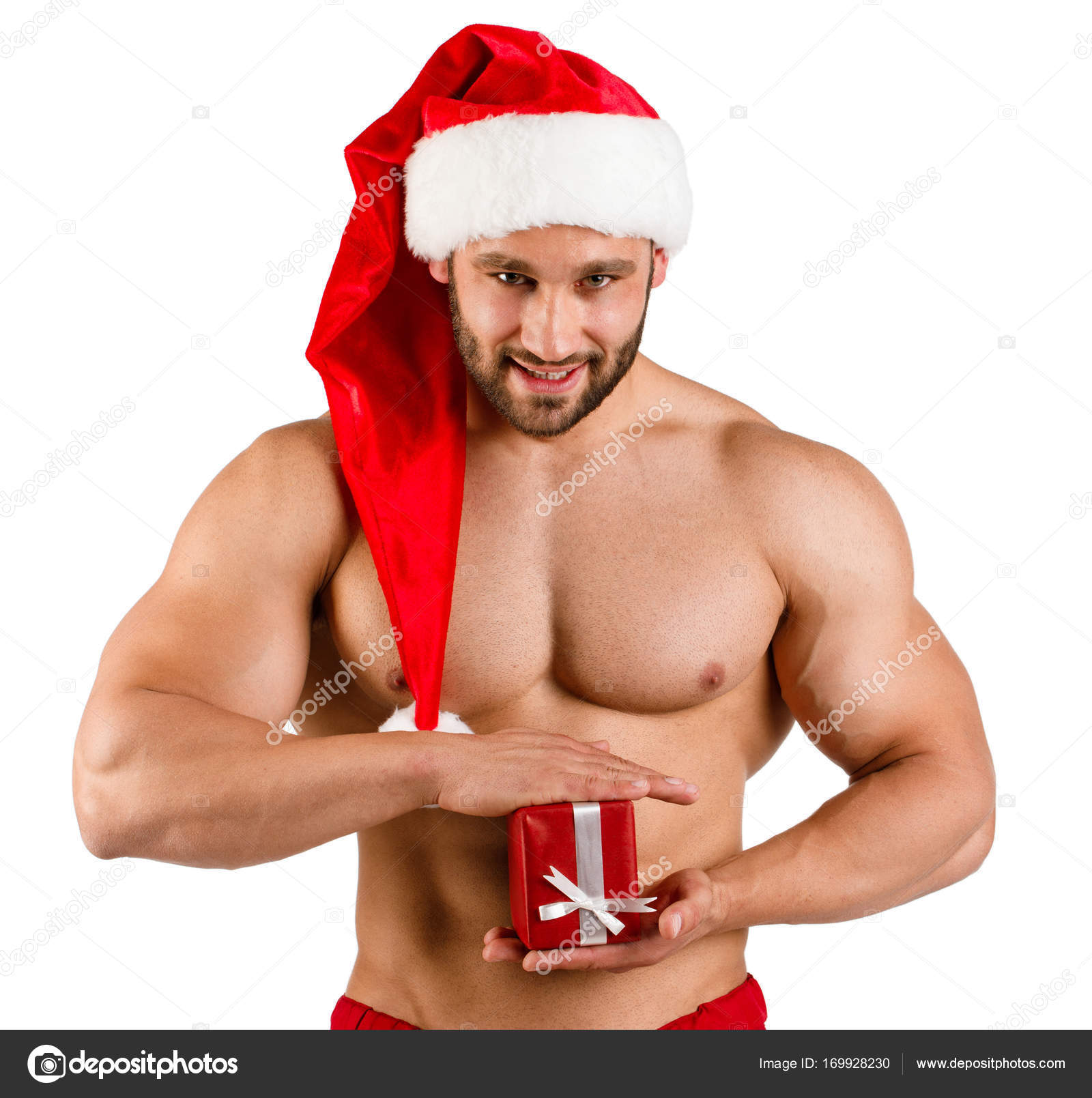 Babbo natale muscoloso