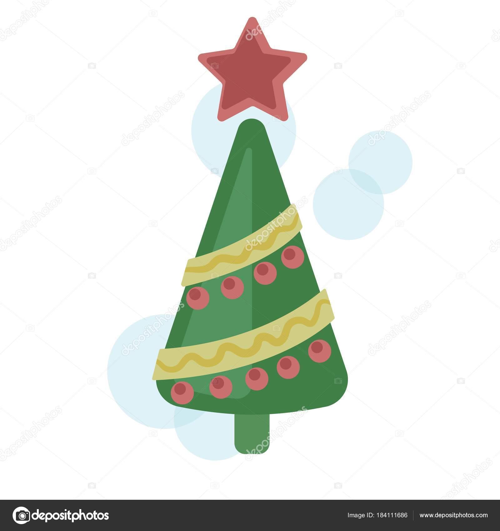 Dibujos Estrellas De Navidad A Color Vector árbol De