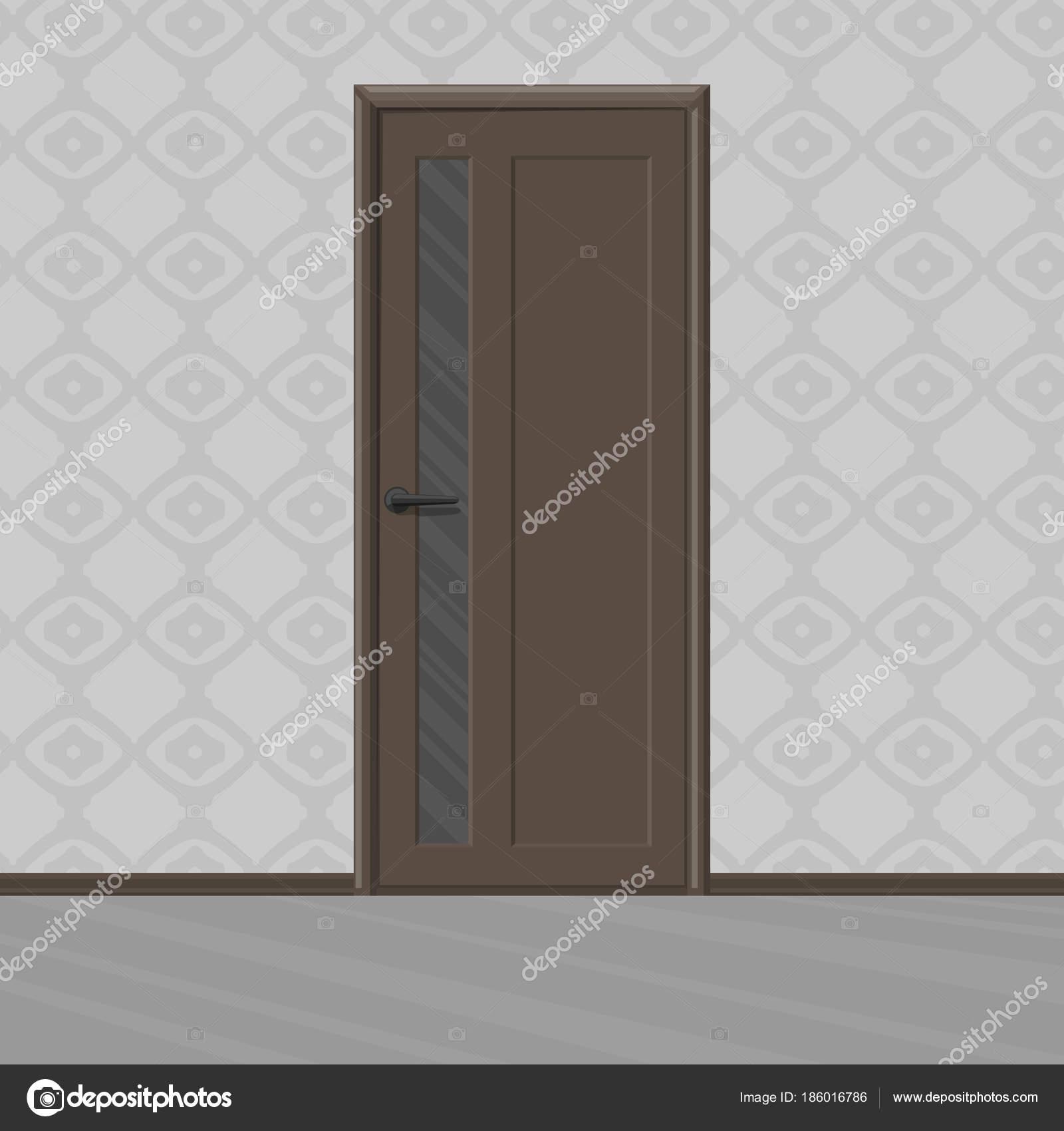 Marr n de rampa nueva puerta de madera con marco de for Puertas de madera con cristal precio