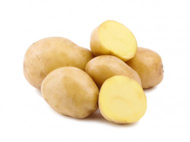 raw young potatoes