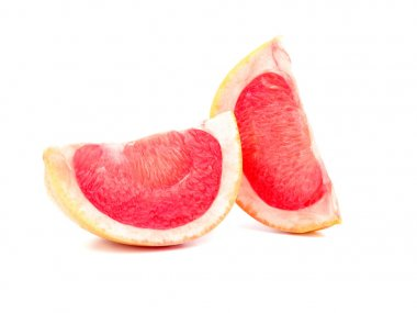 Grapefruit slices  isolated