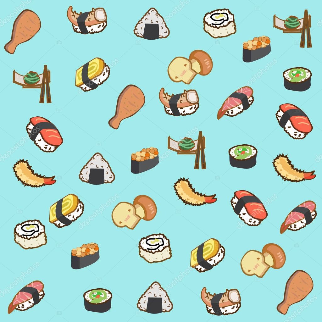 Icon Cartoon Sushi Wallpaper Icon Of Japan Food And Sushi