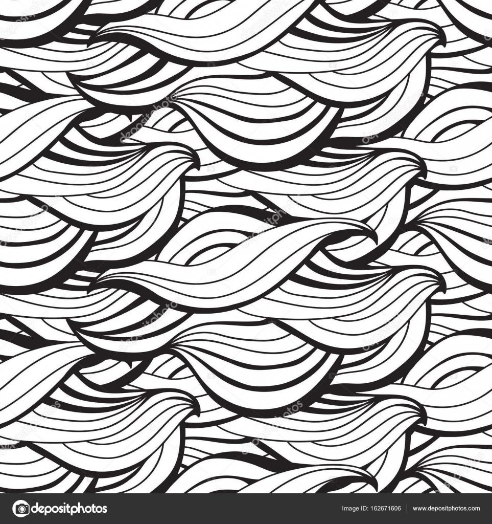 Ondas abstractas vector de patrones sin fisuras. Decorativos de ...