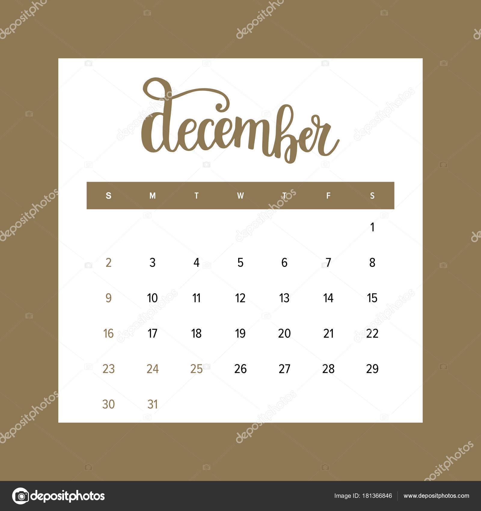 Vintage Design Calendar