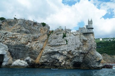 Swallow's Nest is a decorative castle the monument of architecture and history, the main attraction on the shores of the Black sea of the city Yalta.