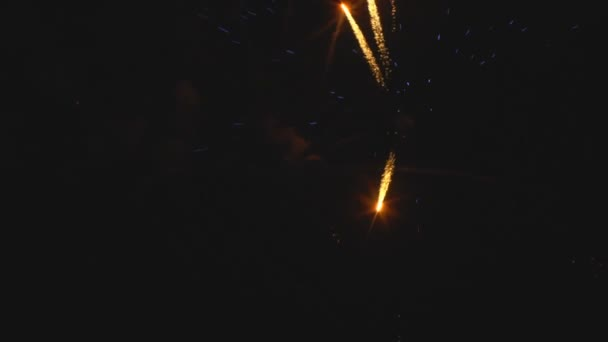 Színes tűzijáték ünnep éjjel