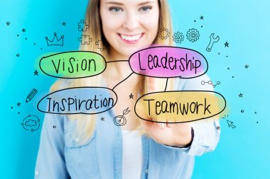 Leadership concept with woman