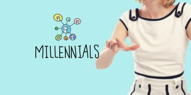 Millennials concept with young woman