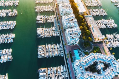 Aerial view of Marina del Rey harbor