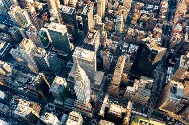 """Картина, постер, плакат, фотообои """"вид с воздуха на центр манхэттена """", артикул 132018366"""