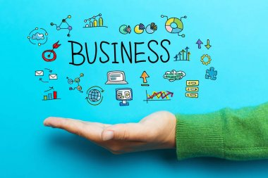 Business concept with hand