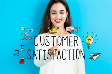 Customer Satisfaction concept with young woman