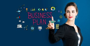 Business Plan concept with business woman