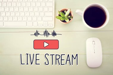 Live Stream concept with workstation